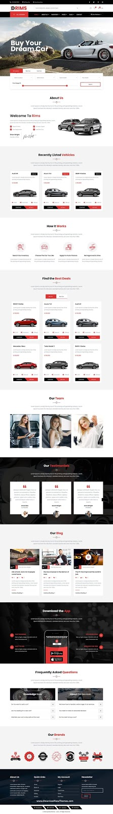Rims Car Service Angular Template