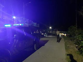 Kanit Sabhara Polsek Curio Giatkan Patroli Blue Light Kala PPKM Mikro Di Berlakukan