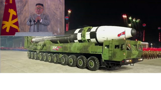 Politics : North Korea dictator shows off the new mobile intercontinental ballistic missile