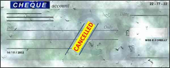 Cancel Cheque क्या होता है