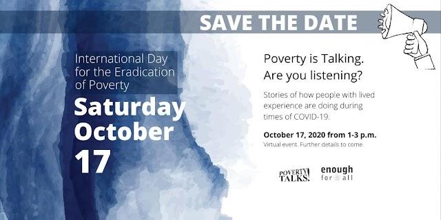 International Day to Eradicate Poverty 2020!