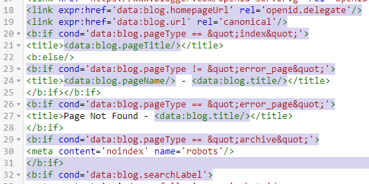 There is same conditional tags marked example