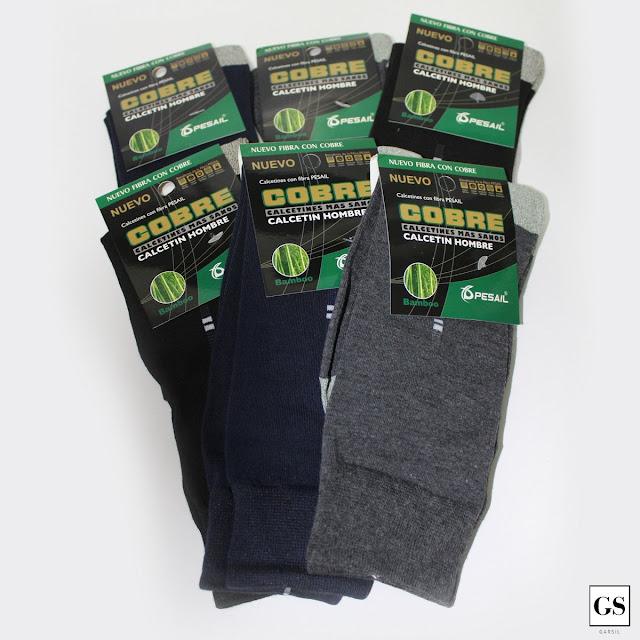 Calcetines de cobre hombre