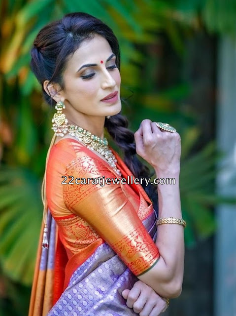 Shilpa Reddy Kundan Meena Work Choker