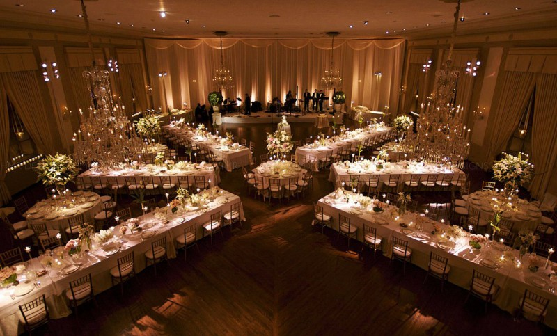 wedding reception rectangle table setup nice decoration beautifully