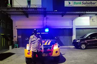 Patroli Blue Light, Polsek Alla Antisipasi Kejahatan dan Gangguan Kamtibmas di Malam Hari