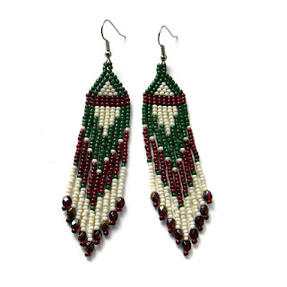 long beaded earrings beadwork beads seed bead earrings