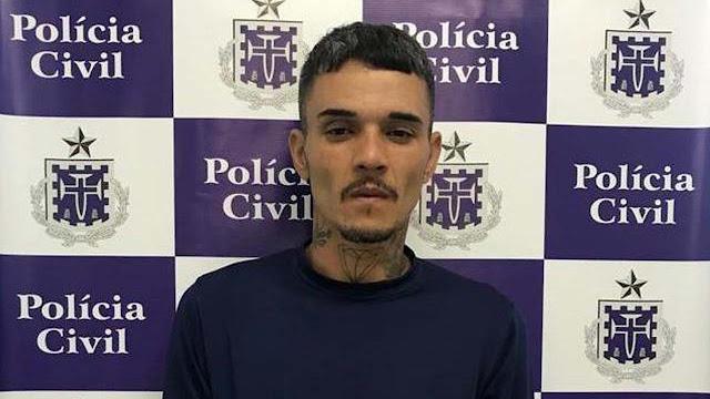 robson carvalho de oliveira preso assassinato feminicidio ex campanheira alagoinhas - Suspeito de matar ex-companheira em Alagoinhas é preso e confessa crime.