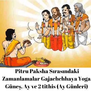 Gajachchhaya Yoga, Güneş, Ay ve 2 tithis (Ay Günleri)