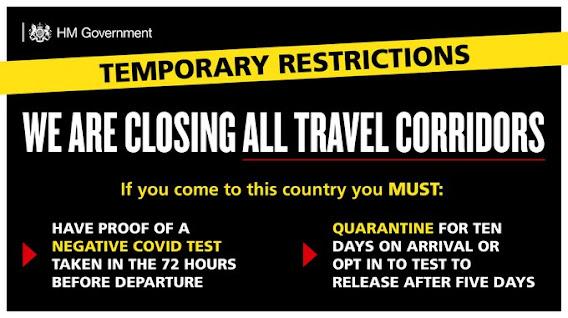 UK quarantine in place for arrivals