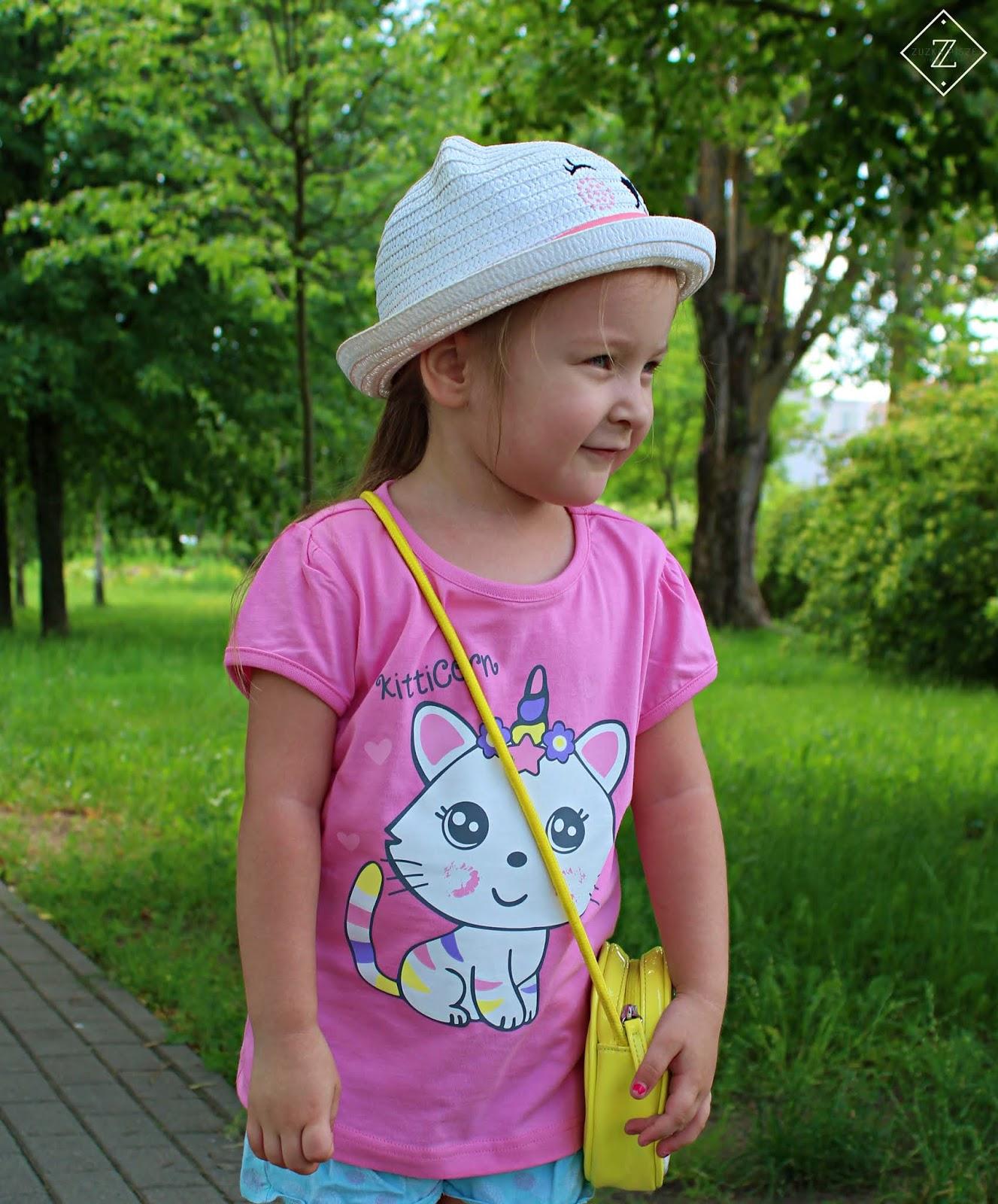 shirt z krótkim rękawkiem dla dziewczynki bonprix