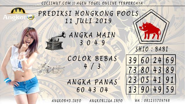 PREDIKSI HONGKONG POOLS 11 JULI 2019