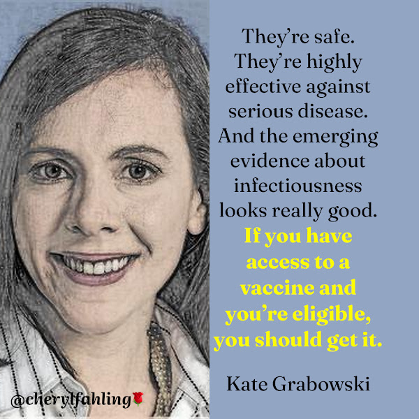 They're safe. They're highly effective against serious disease. And the emerging evidence about infectiousness looks really good. If you have access to a vaccine and you're eligible, you should get it. — Kate Grabowski, an epidemiologist at Johns Hopkins