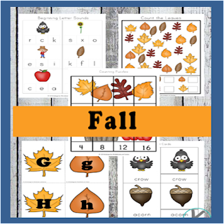 fall preschool worksheets