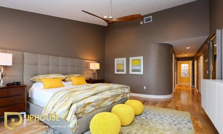 Phòng ngủ màu vàng kem 05