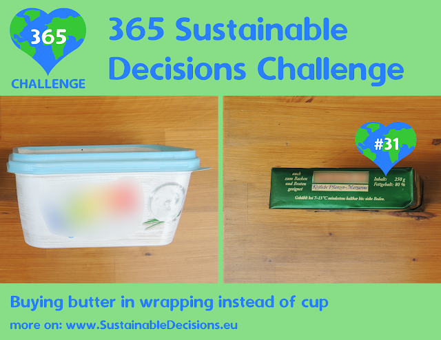 Buying butter in wrapping instead of cup reducing plastic waste