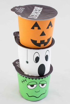 Halloween Monster Pudding Cups