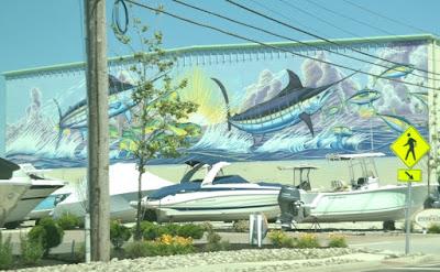 Atlantic Blue Marlin Wall Mural in Stone Harbor