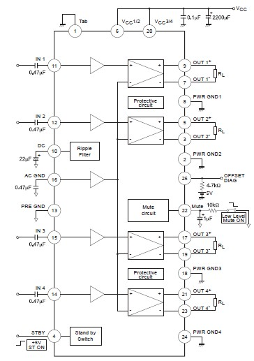 La4550 Audio Amplifier Electronic Circuits And Diagramelectronics