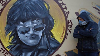 Το εντυπωσιακό γκράφιτι αφιερωμένο στον Στάθη Ψάλτη
