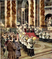 The Ceremony of the Washing of the Papal Altar in St. Peter's Basilica on Holy Thursday