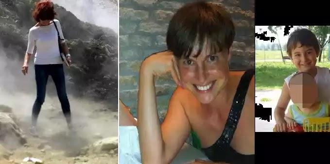 Αυτή είναι η μητέρα και το παιδάκι της που τους ρούφηξε το ηφαίστειο στην Ιταλία