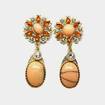 Euro-USA Fully-jewelled Alloy Resin Acrylic Earrings First-class Jewelry