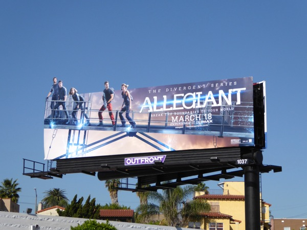 Allegiant Divergent Series special extension billboard