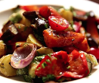 how to make roasted vegetable salad step by step