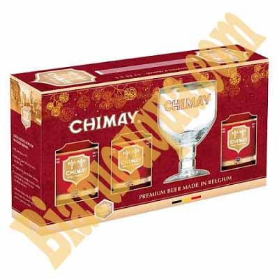 Hộp quà bia Chimay đỏ 3 chai