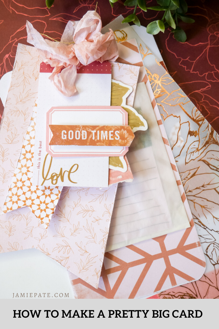 How to Make a Pretty Big Layered Tag Card DIY with Heidi Swapp Honey & Spice
