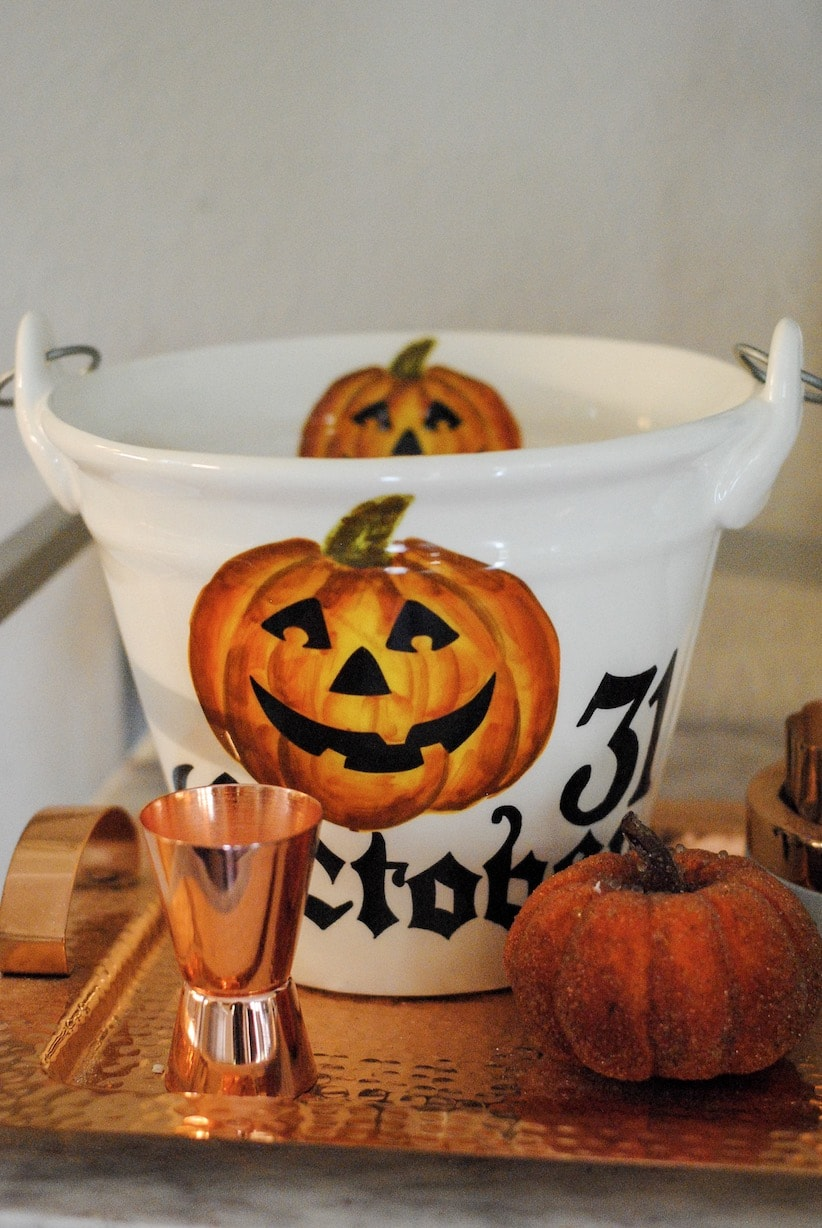 halloween bar cart on sweet and simply southern blog