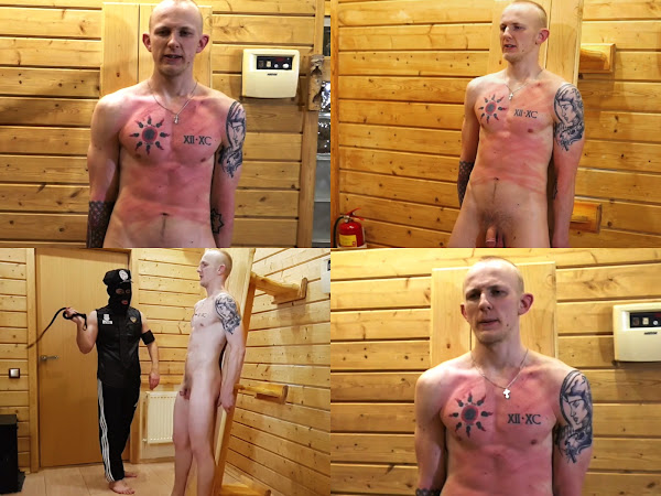 #RusStraightGuys - Sporty Dimon 22 y.o. torso whipping torture