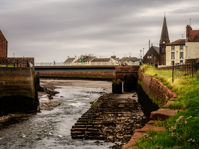 Photo of the road bridge over the River Ellen at the bottom of Shipping Brow in Maryport