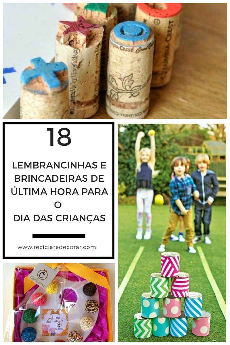 Lembrancinhas e brincadeiras de última hora para o Dia das Crianças