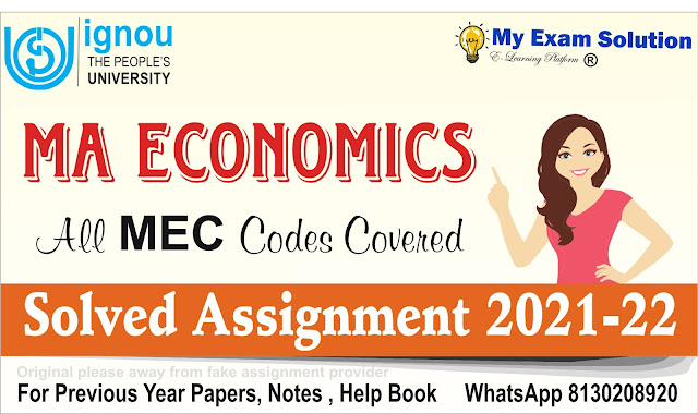 IGNOU MEC Solved Assignment ;  MEC Solved Assignment 2021-22
