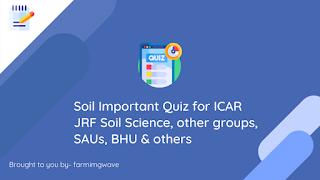 Soil science quiz