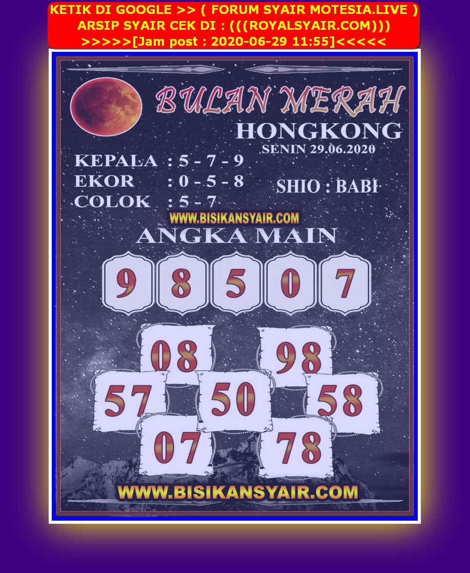 Kode syair Hongkong Senin 29 Juni 2020 287