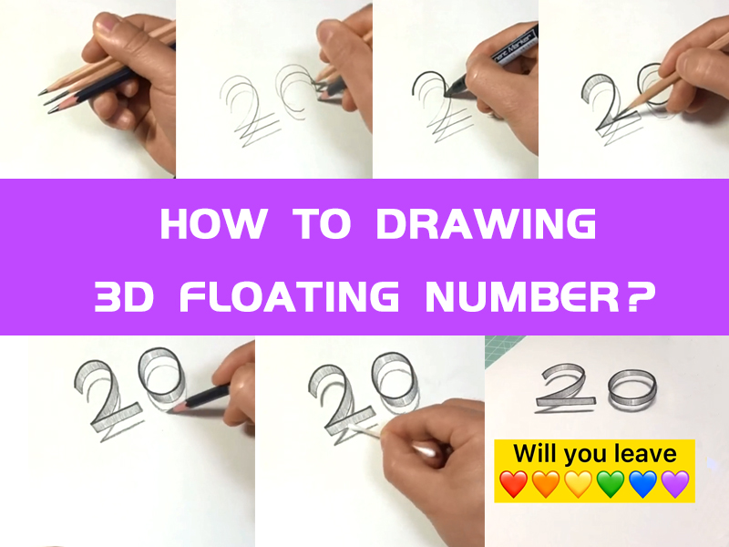 How To Drawing 3D Floating number?