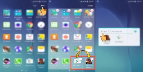Cara Membuat Folder Aplikasi di Samsung J5