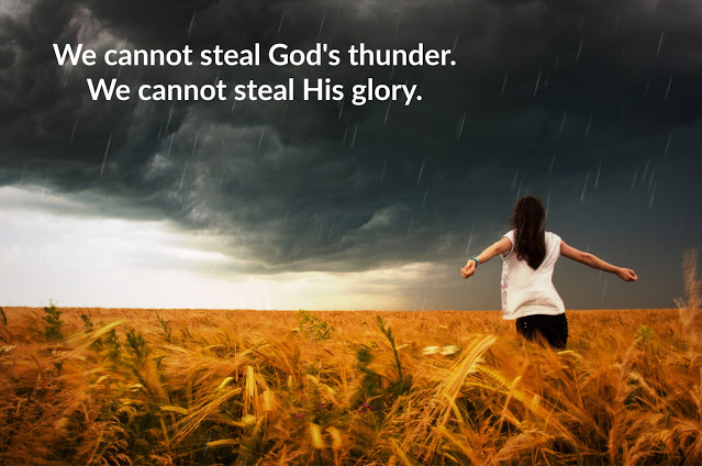 Psalm 115:  We cannot steal God's thunder or His glory.