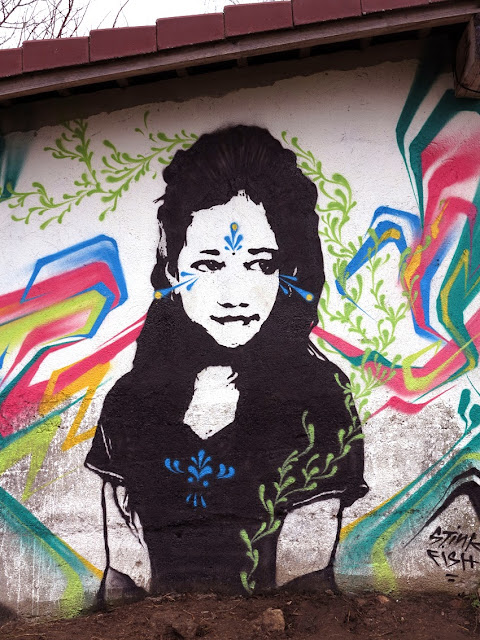 New Street Art Portrait By Colombian artist Stinkfish somewhere in the city of Linz, Austria. 5