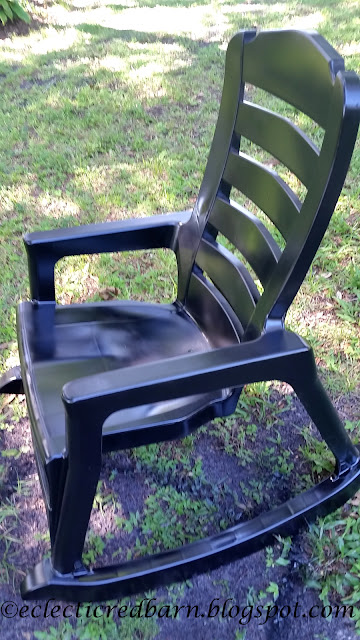 Updated plastic rocking chairs to give them new life