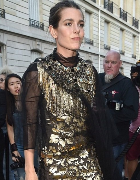 Charlotte Casiraghi attends the Vogue Foundation Gala 2016 at Palais Galliera in Paris. Charlotte wears Gucci dress