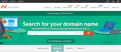 search for your domain name from namecheap