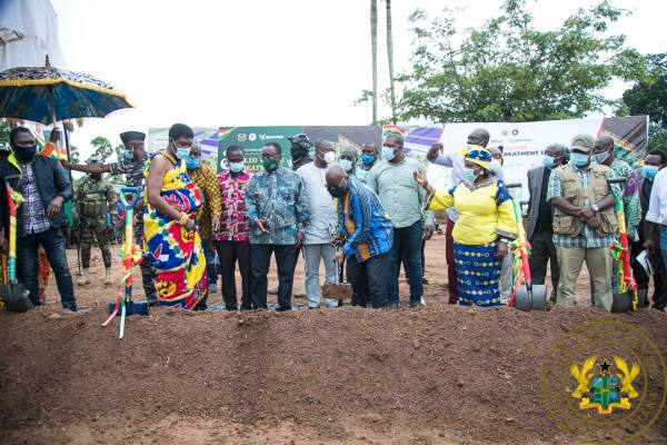 President Akufo-Addo Cuts Sod €15 Million Techiman For Integrated Recycling And Compost Plant
