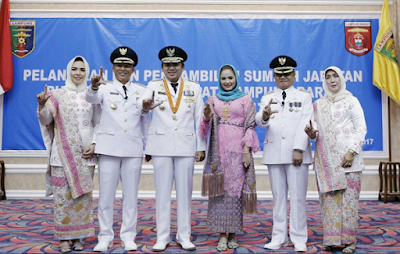 Gubernur Lampung M. Ridho Ficardo Lantik Bupati dan Wakil Bupati Lampung Barat