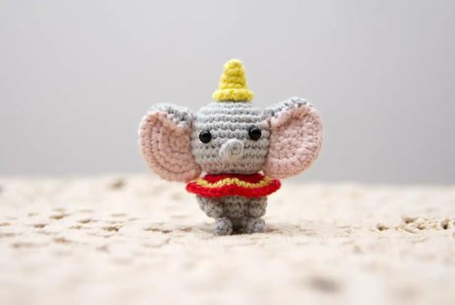 Amigurumi de Elefante Dumbo a Crochet