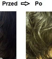 farbowanie efekt przed i po