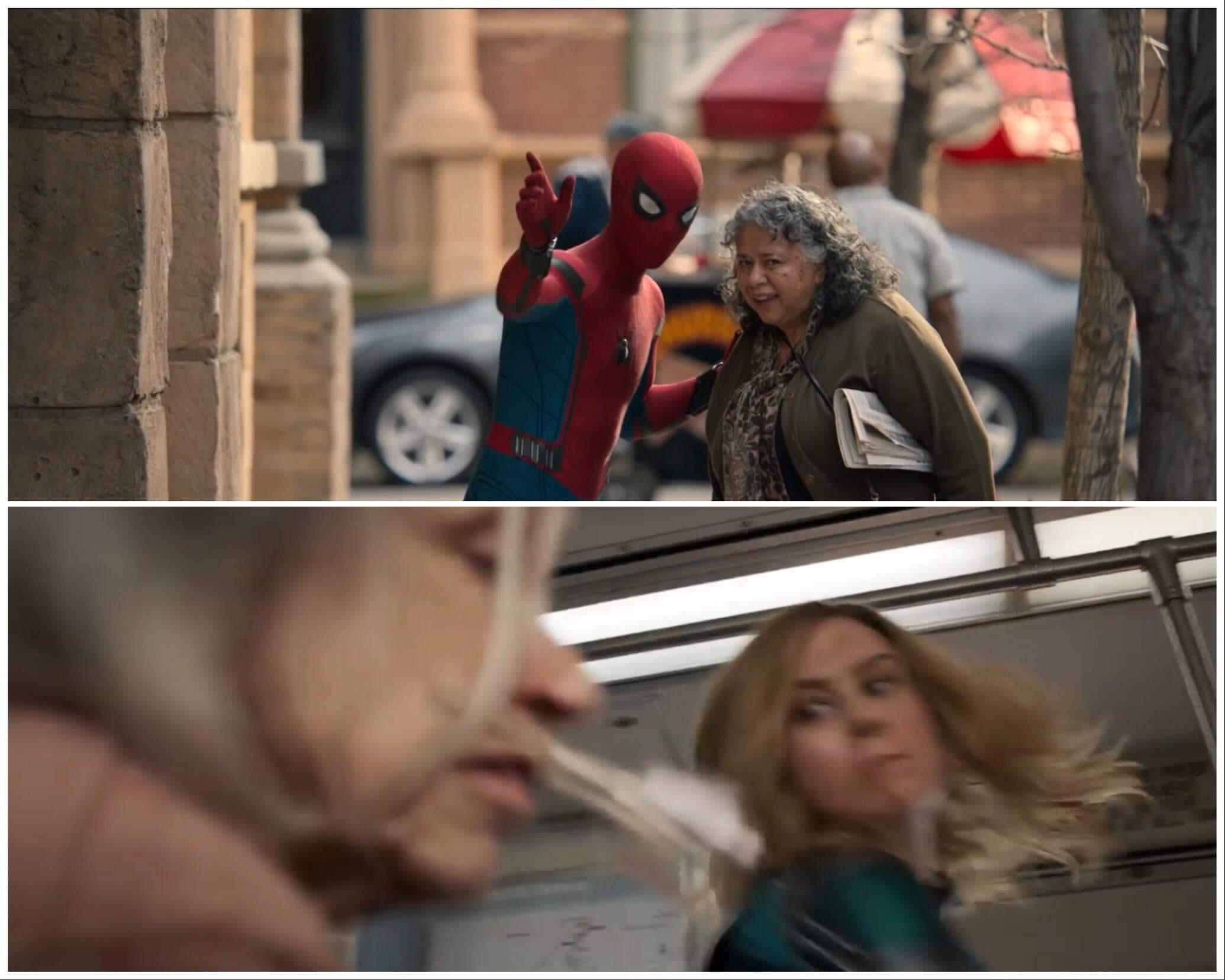 The difference between Spider-Man and Captain Marvel : 同じマーベルのキャラクターでも大きく異なるスパイダーマンとキャプテン・マーベルを並べて、その違いを一目瞭然にしてみた写真 ! !